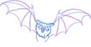 dessiner une chauve souris de dessin anime - etape 5