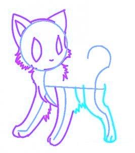 dessiner un chat de manga - etape 5