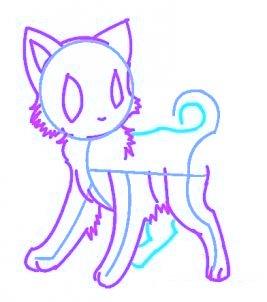 dessiner un chat de manga - etape 6