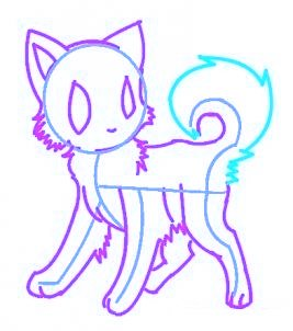 dessiner un chat de manga - etape 7