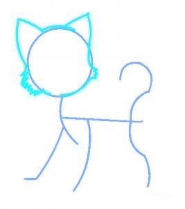 Comment dessiner un chat de manga allodessin - Apprendre a dessiner des animaux mignon ...