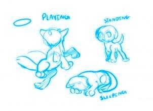 dessiner un chien de dessin anime - etape 2