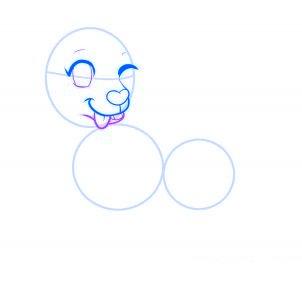 dessiner un chien de dessin anime - etape 6