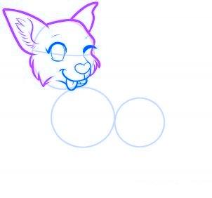 dessiner un chien de dessin anime - etape 7
