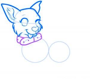 dessiner un chien de dessin anime - etape 8