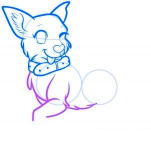 dessiner un chien de dessin anime - etape 9