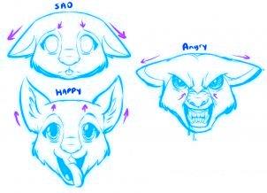 dessiner un chien de dessin anime - etape 1