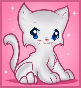 dessin de chat de dessin anime terminé