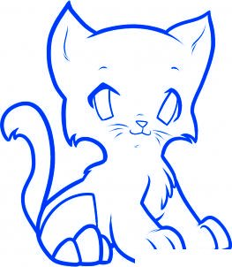 dessiner un chat de dessin anime - etape 7