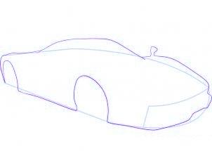 dessiner une voiture de sport Ferrari - etape 3