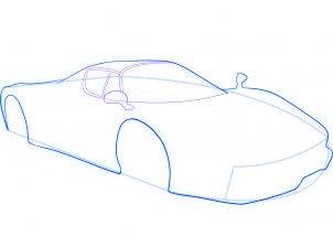 dessiner une voiture de sport Ferrari - etape 4