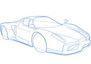 dessiner une voiture de sport Ferrari - etape 7