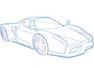 dessiner une voiture de sport Ferrari - etape 8