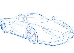 dessiner une voiture de sport Ferrari - etape 9