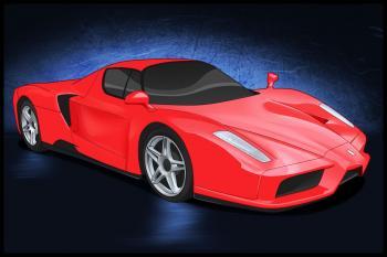 dessin de voiture de sport Ferrari terminé