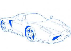 Comment dessiner une voiture de sport ferrari allodessin - Dessiner une voiture facile ...