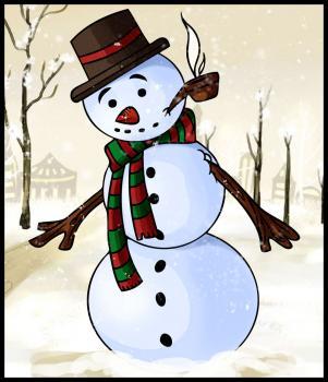 dessin de bonhomme de neige terminé