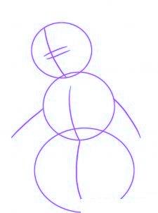 dessiner un bonhomme de neige - etape 1