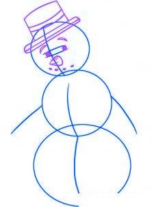 dessiner un bonhomme de neige - etape 2