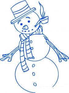 dessiner un bonhomme de neige - etape 5