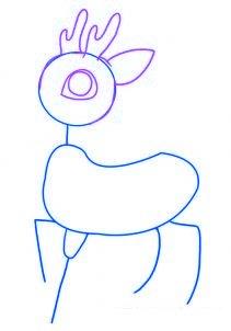 dessiner un renne de noel - etape 2