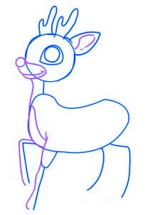 dessiner un renne de noel - etape 3