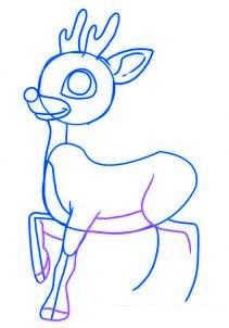 dessiner un renne de noel - etape 4