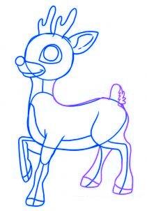dessiner un renne de noel - etape 5