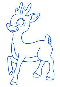 dessiner un renne de noel - etape 6