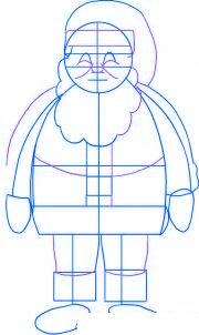 dessiner le pere noel - etape 3