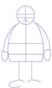 dessiner le pere noel - etape 1