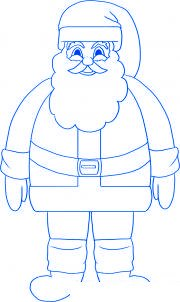 Comment dessiner le p re no l allodessin - Comment dessiner le traineau du pere noel ...