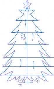 dessiner un sapin de noel - etape 3
