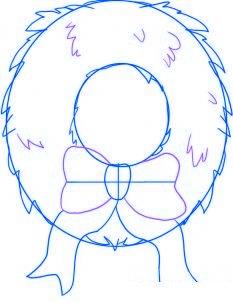 dessiner une couronne de noel - etape 4