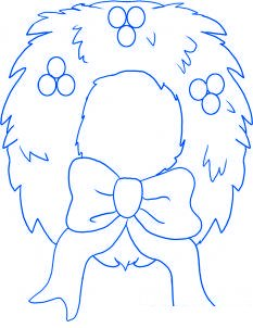 dessiner une couronne de noel - etape 6