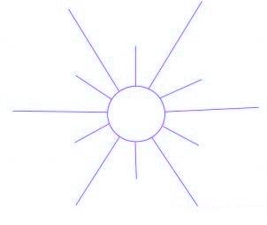 dessiner un flocon de neige de noel - etape 1