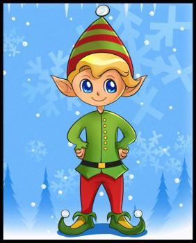 dessin elfe de noel terminé