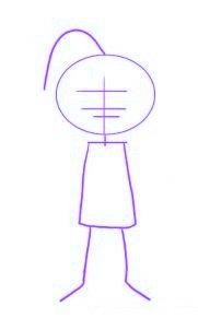 dessiner un elfe de noel - etape 1