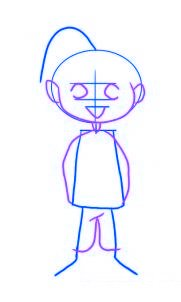 dessiner un elfe de noel - etape 2