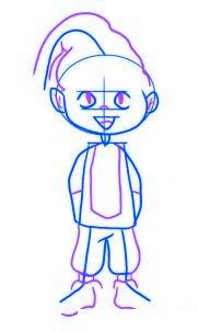 dessiner un elfe de noel - etape 3