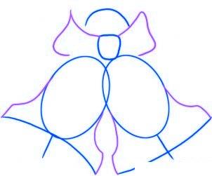 dessiner des cloches de noel - etape 2