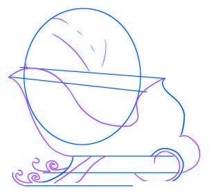 dessiner un traineau du pere noel - etape 2