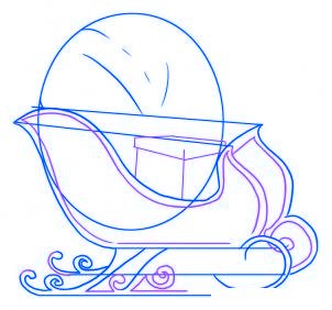 dessiner un traineau du pere noel - etape 3