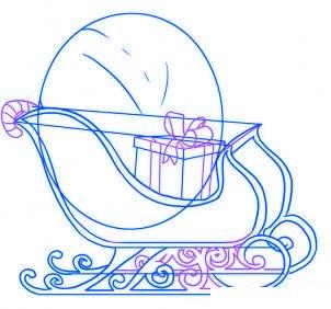 dessiner un traineau du pere noel - etape 4