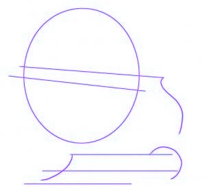 dessiner un traineau du pere noel - etape 1