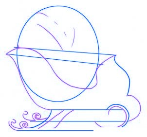 Comment dessiner le tra neau du p re no l allodessin - Comment dessiner pere noel ...