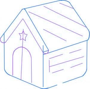 Comment dessiner une maison en pain d pice pour no l for Dessiner votre maison