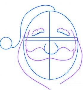 dessiner le pere noel - etape 2