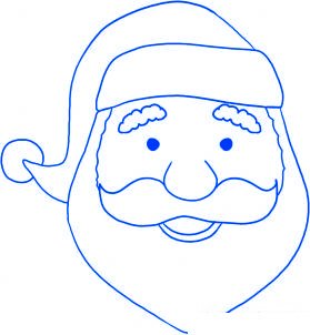 Comment dessiner le p re no l 2 allodessin - Pere noel facile a dessiner ...