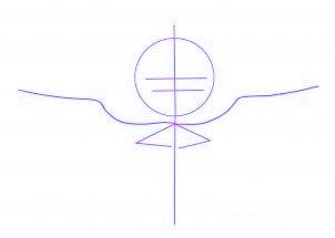 dessiner un ange de noel - etape 1